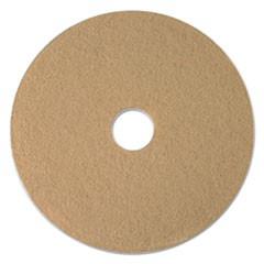 "Tan Burnishing Floor Pads, 17"" Diameter, 5/Carton"