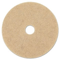 "Natural Hog Hair Burnishing Floor Pads, 20"" Diameter, 5/Carton"