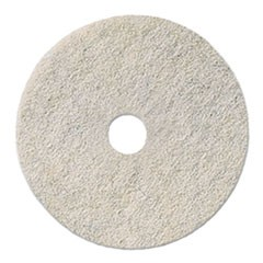 "Natural White Burnishing Floor Pads, 20"" Diameter, 5/Carton"