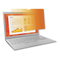 "Frameless Gold Privacy Filters for 13.3"" Widescreen Notebook, 16:9 Aspect Ratio"