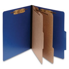 ColorLife PRESSTEX Classification Folders, 2 Dividers, Letter Size, Dark Blue, 10/Box
