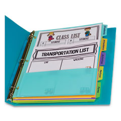 "5-Tab Index Dividers with Multi-Pockets, 5-Tab, 11 1/2"" x 10"""
