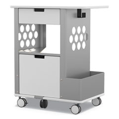 Mobile Storage Cart, 28w x 20d x 33.5h, White, 150-lb Capacity