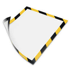 DURAFRAME Security Magnetic Sign Holder, 8 1/2 x 11, Yellow/Black Frame, 2/Pack