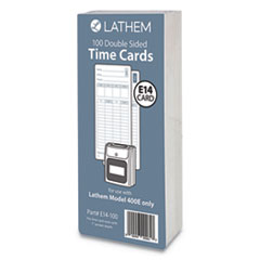 E14-100 Time Cards, Bi-Weekly/Monthly/Semi-Monthly/Weekly, Two Sides, 7""
