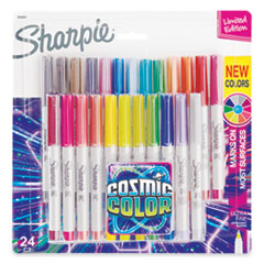 Cosmic Color Permanent Markers, Ultra Fine Needle Tip, Assorted, 24/Pack