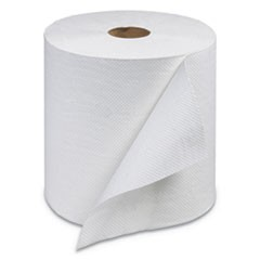 "Universal Hand Towel Roll, 1-Ply, White, 800ft x 7 7/8 "", 6 Roll/Carton"