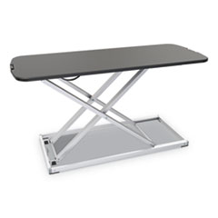 AdaptivErgo Laptop Lifting Workstation, 31.25w x 12.63d x 16h, Black/Silver