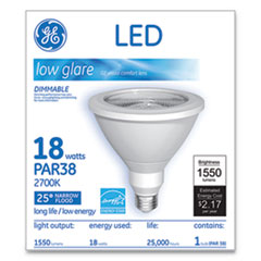 LED PAR38 Dimmable 25 Dg Soft White Flood Light Bulb, 18W
