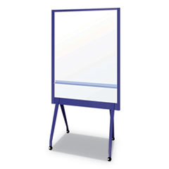 "Mobile Partition Board NB, 38 3/10"" x 70 4/5"", White, Aluminum Frame"