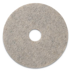 "Combo Burnishing Pads, 19"" Diameter, Tan, 5/CT"