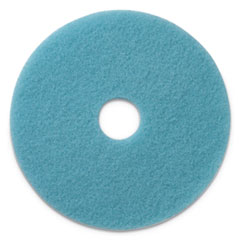 "Luster Lite Burnishing Pads, 20"" Diameter, Sky Blue, 5/CT"