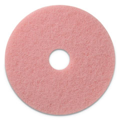 "Remover Burnishing Pads, 20"" Diameter, Pink, 5/CT"