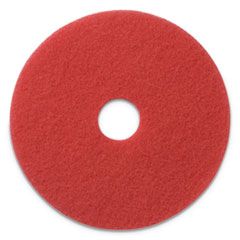 "Buffing Pads, 14"" Diameter, Red, 5/CT"