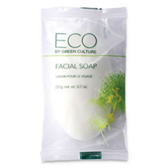Facial Soap Bar, Clean Scent, 0.71 oz Pack, 500/Carton