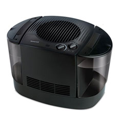 "Top Fill Console Cool Mist Humidifier, 3 gal, 12.3"" x 13.6"" x 13.1"", Black"