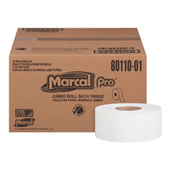"Bathroom Tissue, 1-Ply, White, 3.3"" x 2000 ft, 12/Carton"