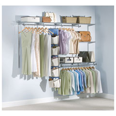 "Configurations Custom Closet Kit, 5 Shelves, 13.25"" x 2.562"" x 48.125"", Silver"