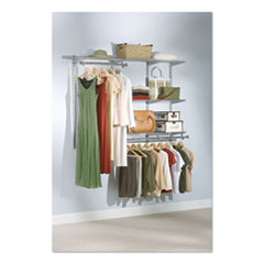 "Configurations Custom Closet Kit, 5 Shelves, 13.125"" x 2.5"" x 48.125"", Silver"