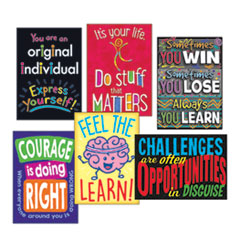 "1ARGUS Poster Combo Pack, ""Life Lessons"", 13 3/8w x 19h"