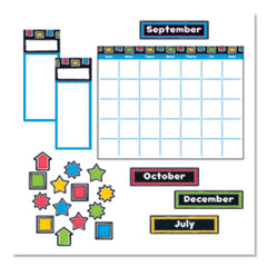 "Bold Strokes Wipe-Off Calendar Bulletin Board Set, Assorted, 18"" x 26.5"""