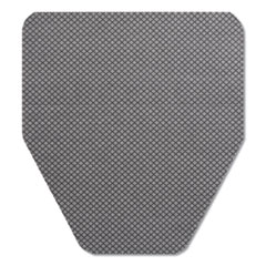 "Komodo Urinal Mat, 18"" x 20"", Gray, 6/Carton"