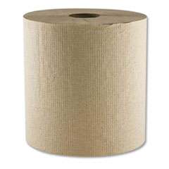 "Morsoft Hardwound Towel, 1-Ply, 8"" x 700 ft, Kraft, 6 Rolls/Carton"