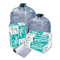 Eco-Strong Can Liner, 16 gal, 0.9 mil, 32 x 24, Black, 20/RL, 25 RL/CT