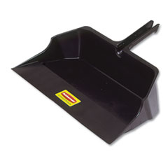 "Jumbo Heavy Duty Dustpan, 22"" Wide, Plastic, Black"