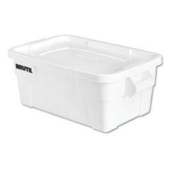 1BRUTE Tote with Lid, 14 gal, 17w x 28d x 11h, White