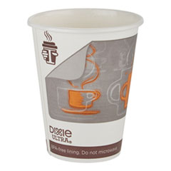 Dixie Ultra Insulair Paper Hot Cup, 12 oz, Coffee, 50 Cups/Sleeve, 20 Sleeves/CT
