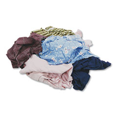 Colored T-shirt Rags, Cotton, Assorted, 25/Box