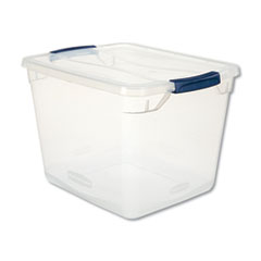 1Clever Store Basic Latch-Lid Container, 13 3/8w x 16 7/8d x 11 1/2h, 30qt, Clear