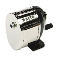 Model L Classroom Manual Pencil Sharpener, Black/Chrome