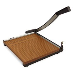 "Square Commercial Grade Wood Base Guillotine Trimmer, 10 Sheets, 12"" x 12"""