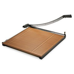 "1Square Commercial Grade Wood Base Guillotine Trimmer, 20 Sheets, 24"" x 24"""