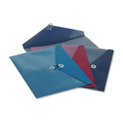 ViewFront Poly Booklet Envelope, Side Opening, 11 x 9 1/2, 3 Colors, 4/Pack