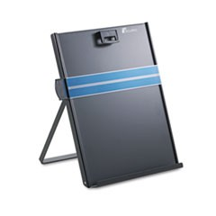 Metal Copyholder, Stainless Steel, 200 Sheet Capacity, Black