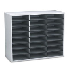 Literature Organizers, 24 Sections, 29 x 11 7/8 x 23 7/16, Dove Gray