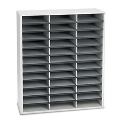 Literature Organizers, 36 Sections Letter, 29 x 11 7/8 x 34 11/16, Dove Gray