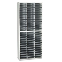 Literature Organizers, 72 Sections, 29 x 11 7/8 x 69 1/8, Dove Gray