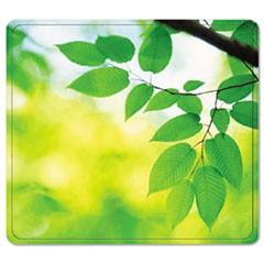 Recycled Mouse Pad, Nonskid Base, 9 x 8 x 1/16, Leaves