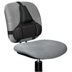 Professional Series Back Support, Memory Foam Cushion, 15w x 2d x 14.5h, Black