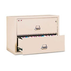 Two-Drawer Lateral File, 37-1/2w x 22-1/8d, UL Listed 350�, Ltr/Legal, Parchment