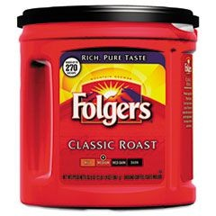 Coffee, Classic Roast Regular, Ground, 33 9/10oz, Can, 6/Carton