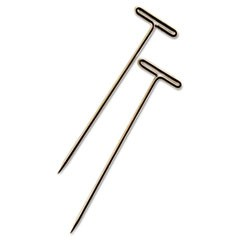 "T-Pins, Steel, Silver, 1 1/2"", 100/Box"