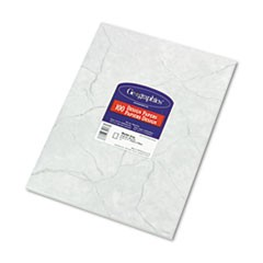 Design Paper, 24 lbs., Marble, 8 1/2 x 11, Gray, 100/Pack