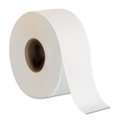 "Jumbo Jr. Bathroom Tissue Roll, 9"" dia, 1000ft, 8 Rolls/Carton"