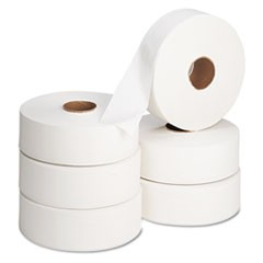 Jumbo Roll Bath Tissue, Septic Safe, 2 Ply, White, 2000 ft, 6 Rolls/Carton