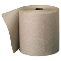 Nonperforated Paper Towel Rolls, 7 7/8 x 800ft, Brown, 6 Rolls/Carton